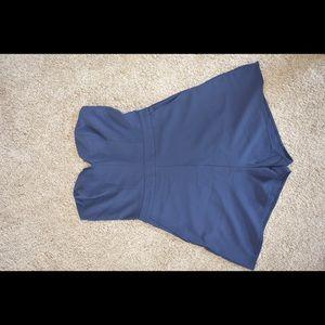 Blue shoulder free romper/jumpsuit (short)